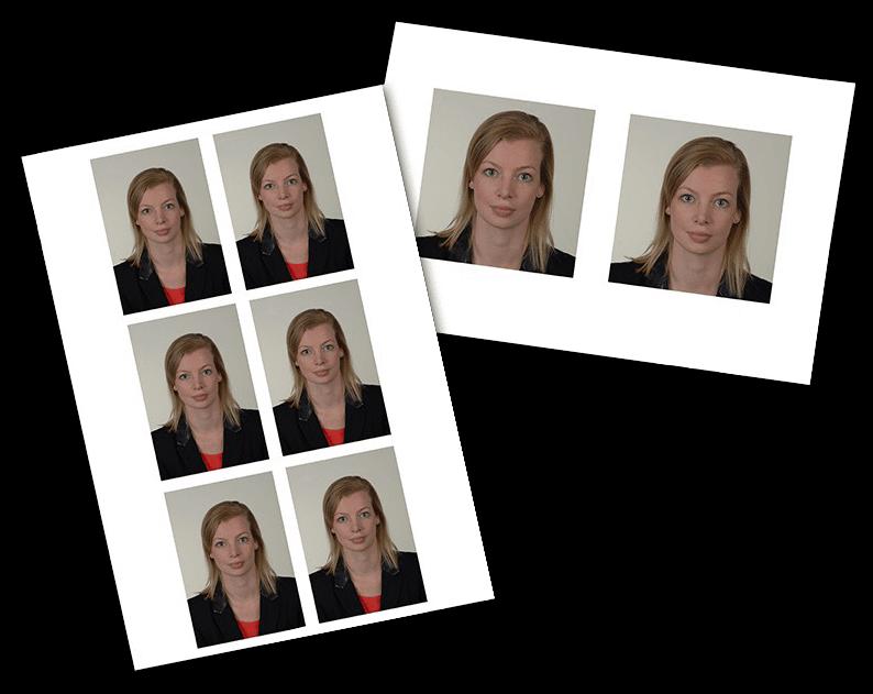 Voorbeeld van een pasfoto bij Foto Swager in Soest.